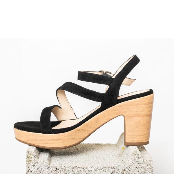 sandale rose-noire