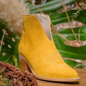 Louisa nubuck jaune